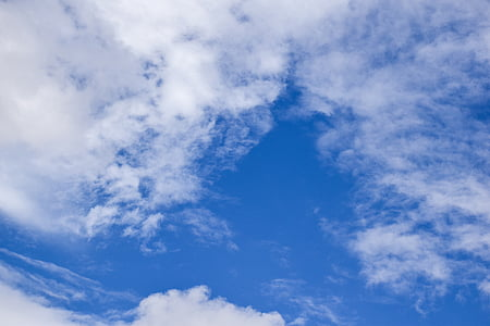 Himmel, Blau, Wolke, blauer Himmel, blauer Himmel Wolken, Wetter, Tag