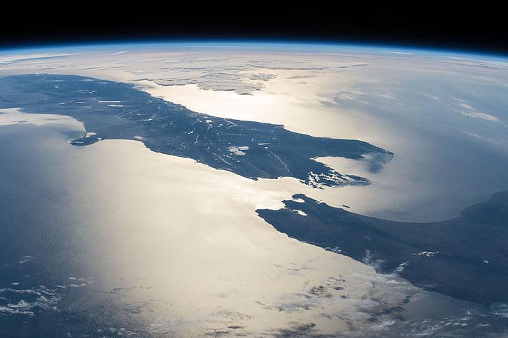 Nouvelle-Zélande, Terre, espace, télescope, Terre, eau, Cosmos