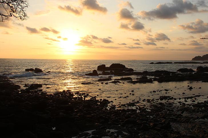 Κόστα Ρίκα, Αμερική, ηλιοβασίλεμα, Ειρηνικού