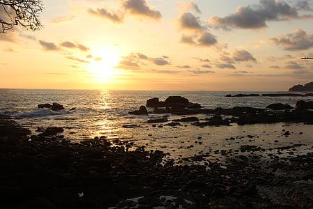 Costa rica, Amèrica, posta de sol, del Pacífic