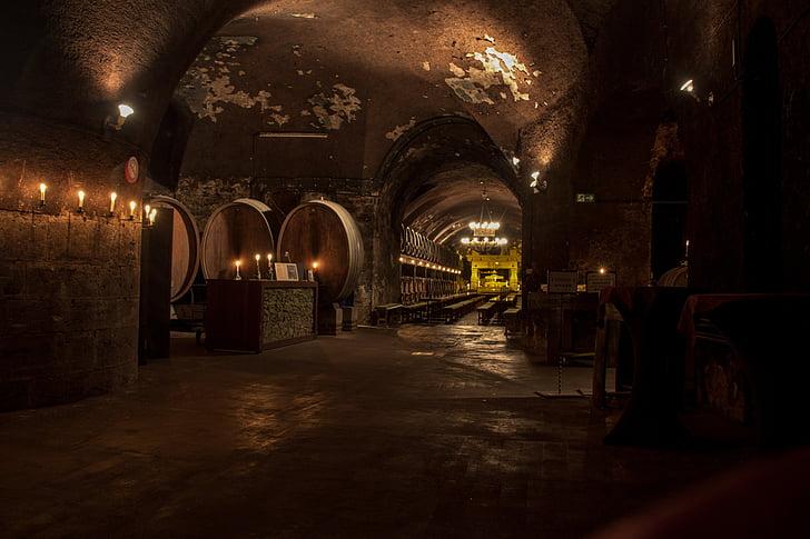 kelder, veini, veini vaatides, veini ladustamise, barrel, Keller, veinimeistri