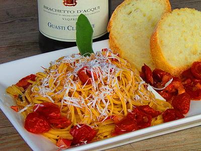 cuina italiana, tomàquets, sopar, aliments, placa, italià, pastes