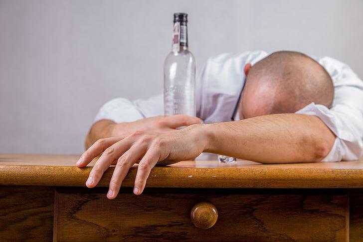 alkoholi, alkohoolsed, Purjus, pohmelus, mees, mees, välja