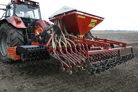 seeder, põllumajandus, kõrreliste segu, karjamaa, külvi