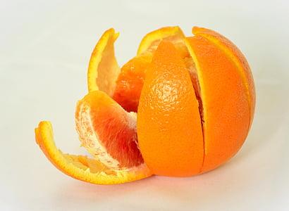 oranž, puu, terve, vitamiinid, mahlakas, Frisch, Peel