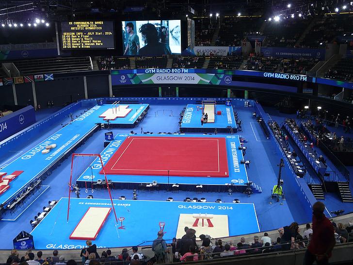Vingrošana, Sports, fitnesa, uzdevums, trenažieru zāle, Glasgow 2014, Sadraudzības spēles