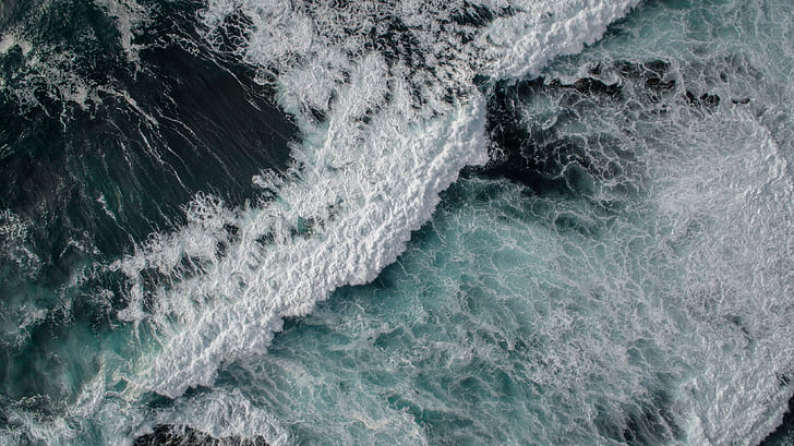 Mar, oceà, l'aigua, ones, natura, ona, blau