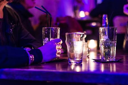 Tabel, kokteil, klaas, Baar, jook, alkoholi, jook