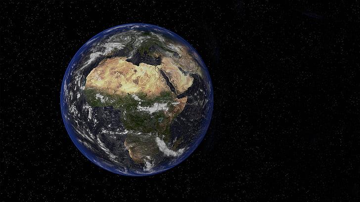 Terre, espace, petit, sombre, gouvernement fédéral, planète - espace, planète terre