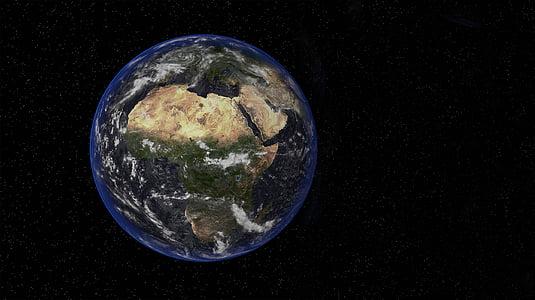 terra, espai, petit, fosc, Govern Federal, planeta - espai, planeta terra