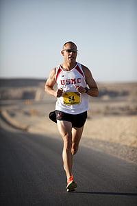 juoksija, Marathon, sotilaallinen, Afganistan, Marines, kilpailu, Race