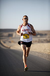 alergător, maraton, militare, Afganistan, marini, concurs, cursa