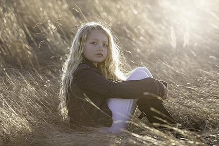model, little girl, child, portrait, childhood, girl, young