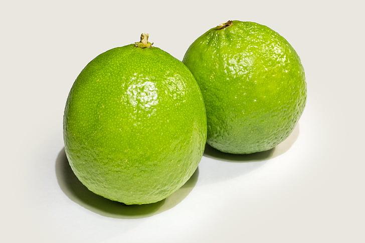 citron vert, fruits, sure, vert, agrumes, manger