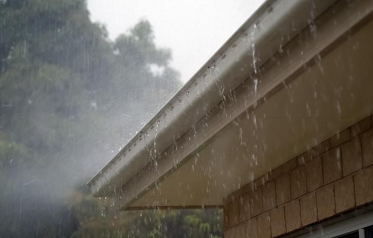 regn, vann, taket, innbindingsmarg, Storm, våte, Vær