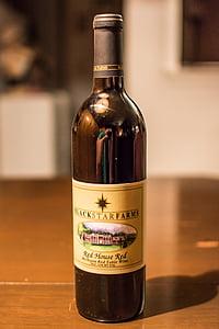 punane vein, alkoholi, joogid, likööri, jook, klaas, pool