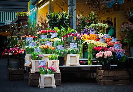 turu, lilled, kohaliku taluturu, lilled tehti, Flower kaubandus, turu varisemine, lillede müük