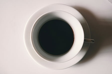minuman, kopi hitam, hitam-putih, Sarapan, kafein, cappuccino, kopi