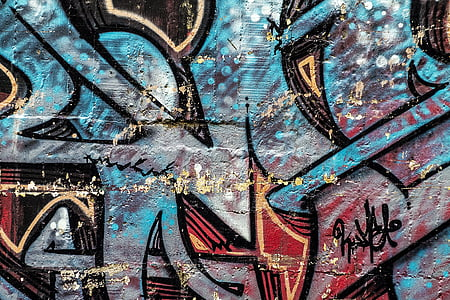 háttér, absztrakt, graffiti, grunge, Street art, graffiti fal, graffiti művészet