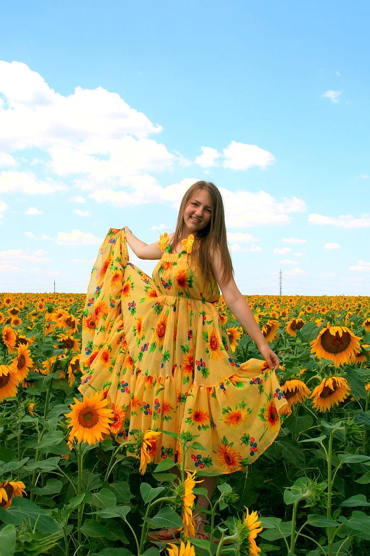 Free photo sunflower girl dress yellow hippopx free photo sunflower girl dress yellow mightylinksfo