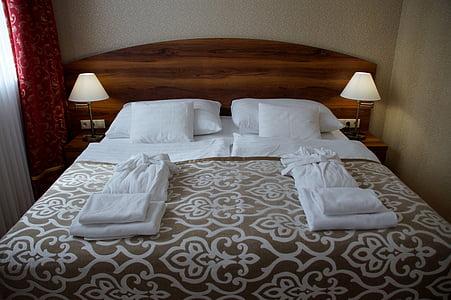 bed, room, hotel, double bed, bedroom, sleep