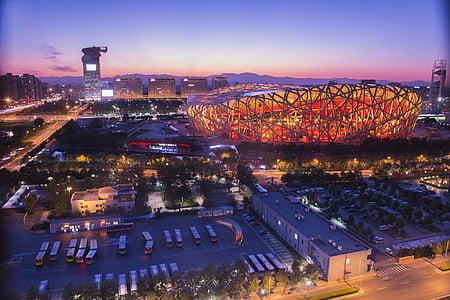 гніздо, декорації, Пекін, Будівля