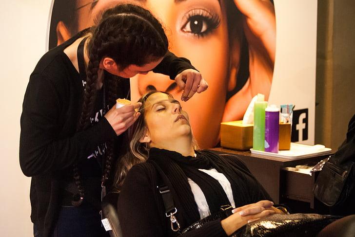 expocosmética, model, kaderníctvo, vlasy, ženy, kozmetiky, čistenie tváre