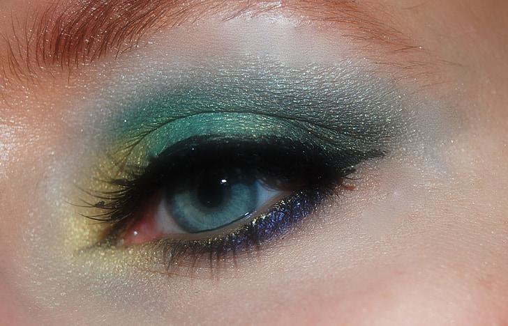 makeup, make up, cosmetics, woman, mascara, face, view