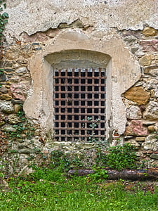 window, grating, old, architecture, door, wall - Building Feature, building Exterior