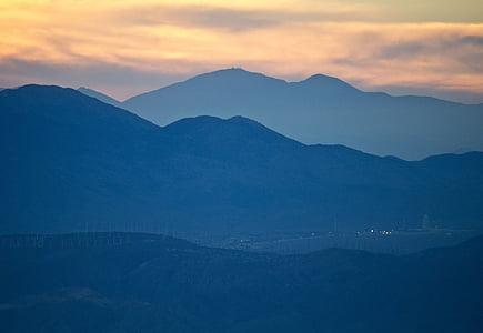 puesta de sol, montañas, paisaje, Scenic, silueta, cielo, picos de