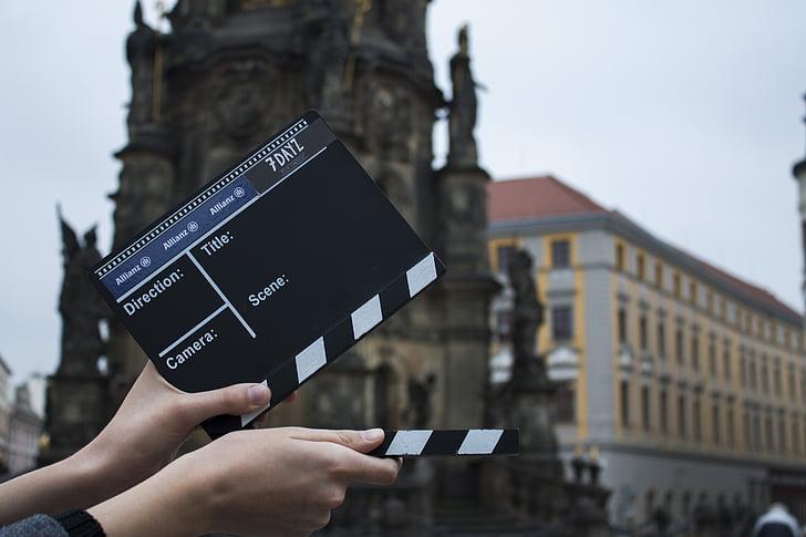 ventil, film, kameraet, handlingen, Olomouc, skyting, Hold