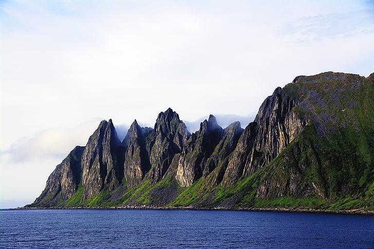 montanhas, natureza, Noruega, montanha, scenics, sem pessoas, céu