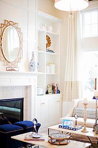 Apartament, confort, contemporani, decoració, disseny, pis, mobles