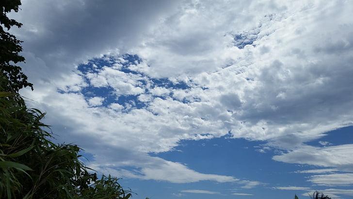 bầu trời, bầu trời mùa hè, đám mây, màu xanh, mùa hè