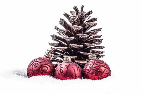 dekorasi, merah, waktu Natal, Natal perhiasan, kartu Natal, putih, kilauan