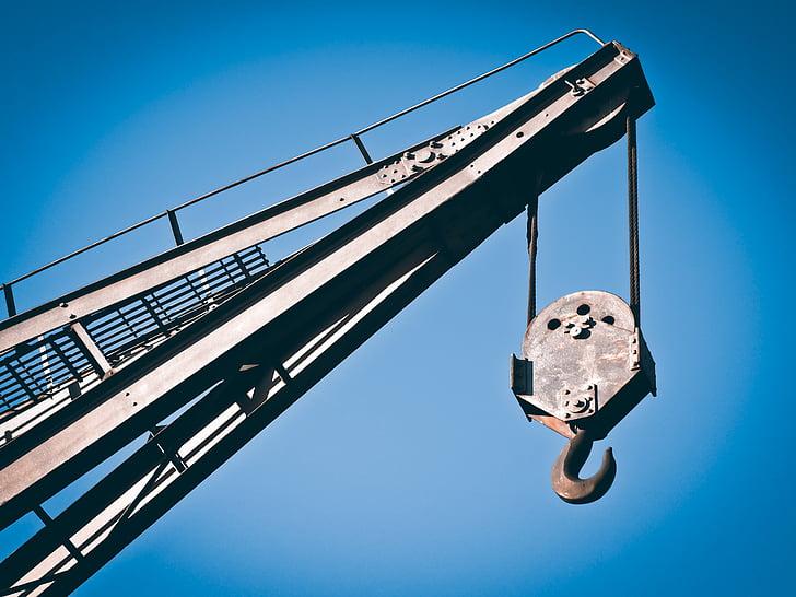crane, raise, load crane, crane arm, ship crane, load hook, crane systems