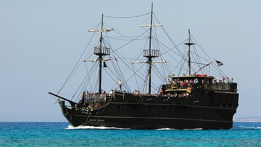 cruise ship, cyprus, ayia napa, tourism, vacation, recreation, pirate ship