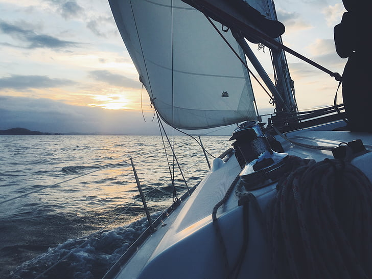 segelbåt, segelbåt, havet, båt, segelbåt, vatten, segel