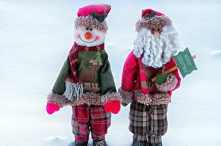 lumi, vana-aasta õhtu, mänguasi, talvel, Holiday, jõulud, loodus