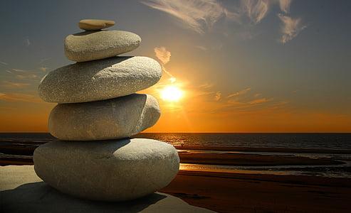 Feng shui, Zen, pedres, textura, material, gràfic, disseny