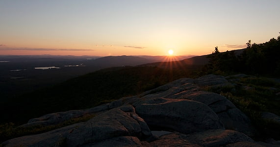 sunset, panorama, view, mountains, landscape, scenic, atmospheric