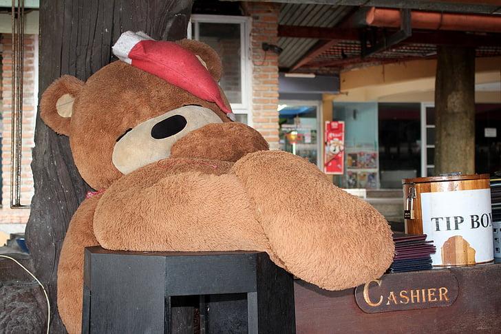 Beer, PLUCHE, harige teddybeer, Teddy, Kerst, GLB, beren