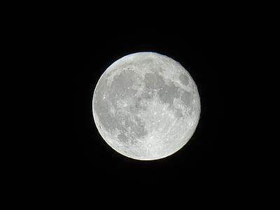 mesiac, noc, Astronómia, noc fotografiu, Nočná obloha, mesačný svit, spln