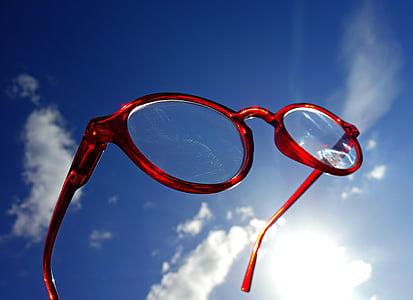 γυαλιά οράσεως, γυαλιά, γυαλιά ηλίου, όραμα, όραση, οπτική, ουρανός