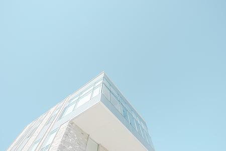arquitectura, edifici, infraestructura, blau, cel, casa, disseny
