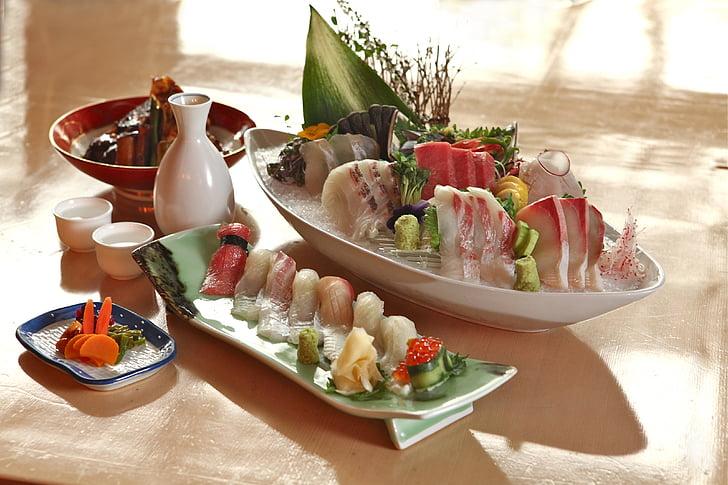 Aquests, aliments, sushi, gurmet, àpat, frescor, aperitiu