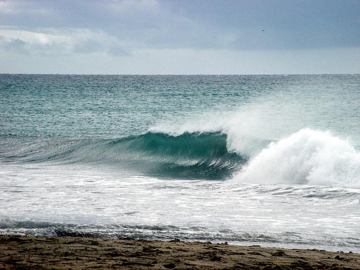 bølger, sjøen, hav
