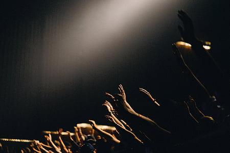 mọi người, Nhóm, tổ chức sự kiện, khen ngợi, thờ phượng, cầu nguyện, đám đông
