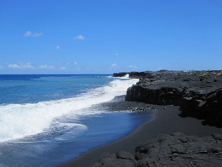 Hawaii, lava, Volcano, Sea, rannikul, Holiday, Vaikse ookeani
