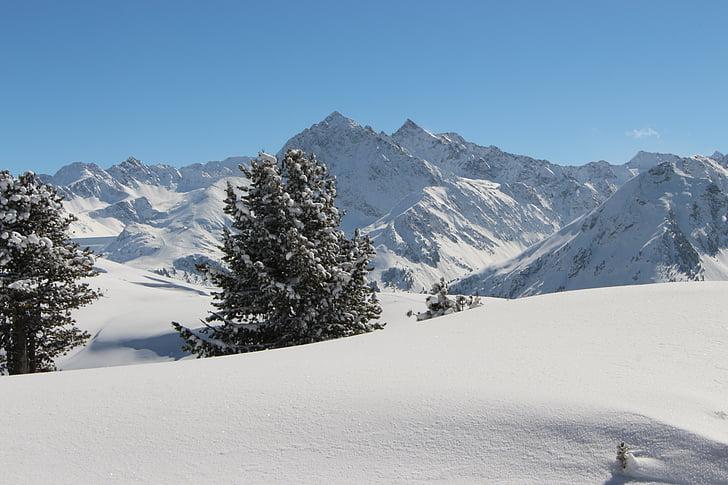 lumi, mäed, lumme, talvel, Austria, Alpine, maastik